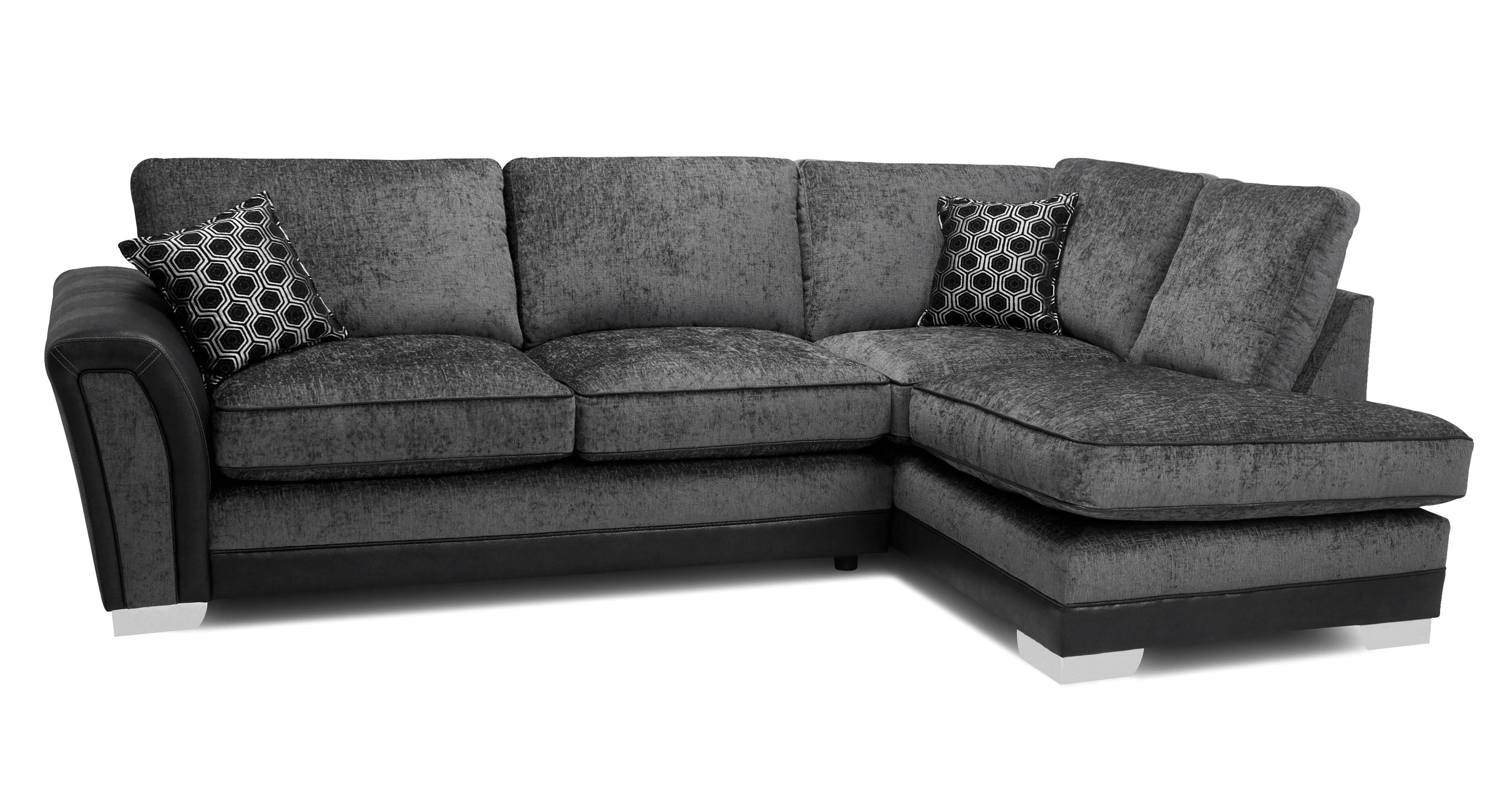 Alessio Formal Back Left Hand Facing 3 Seater Open End Corner Sofa Dfs