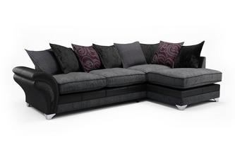 Alexi Left Hand Facing Pillow Back Open End Corner Sofa Alexi