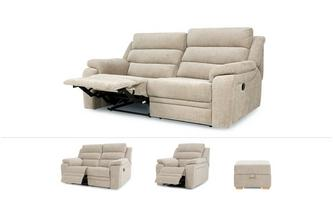 Allons Clearance 3 & 2 Seater Sofa, Recliner Chair & Footstool Benedict