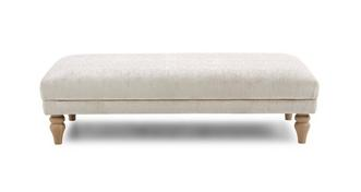 Allure Plain Large Bench Footstool