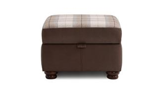 Alton Check Top Storage Footstool