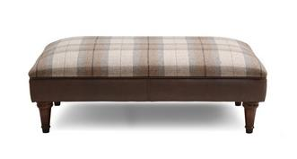 Alton Check Top Large Footstool