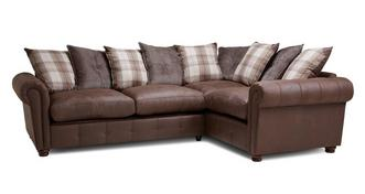 Alton Pillow Back Left Hand Facing 3 Seater Corner Sofa