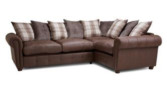 Alton Pillow Back Left Hand Facing 3 Seater Corner Sofa Bed