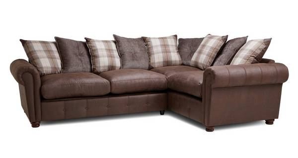 Alton Pillow Back Left Hand Facing 3 Seater Corner Sofa Bed