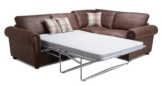 Alton Formal Back Left Hand Facing 3 Seater Deluxe Corner Sofa Bed