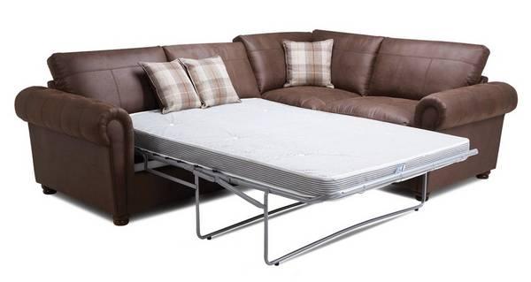 Alton Formal Back Left Hand Facing 3 Seater Deluxe Corner Sofa Bed
