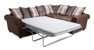 Alton Pillow Back Left Hand Facing 3 Seater Deluxe Corner Sofa Bed