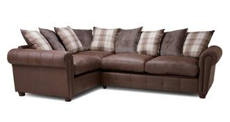 Alton Pillow Back Right Hand Facing 3 Seater Corner Sofa Bed