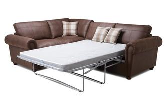 Formal Back Right Hand Facing 3 Seater Deluxe Corner Sofa Bed Oakland