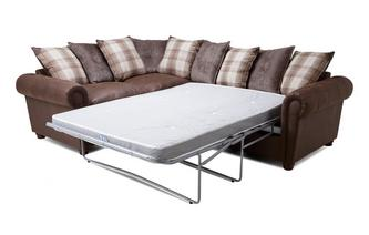 Alton Pillow Back Right Hand Facing 3 Seater Deluxe Corner Sofa Bed ...