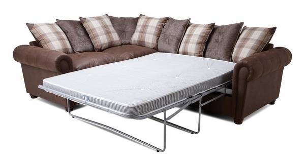 Alton Pillow Back Right Hand Facing 3 Seater Deluxe Corner Sofa Bed