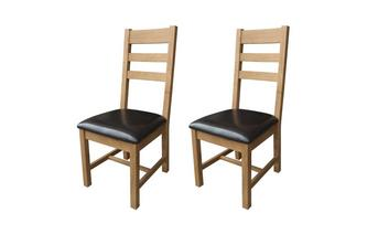 Set of 2 Ladderback Chairs