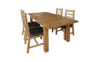 Medium Extending Table & 4 Ladderback Chairs