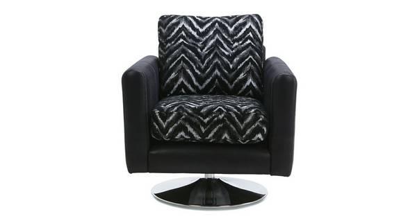 Alvia Pattern Swivel Chair