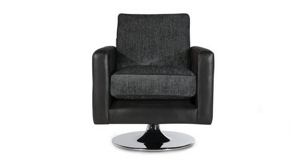 Alvia Plain Swivel Chair