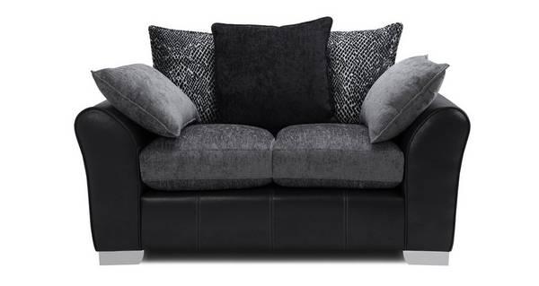 Alvia Pillow Back Small 2 Seater Sofa