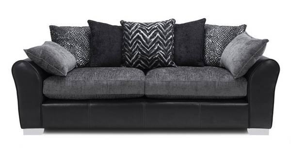 Alvia Pillow Back 4 Seater Sofa