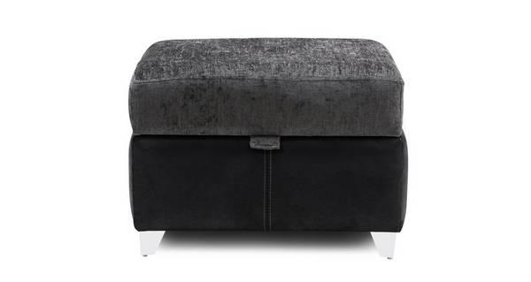 Alvia Plain Top Storage Footstool