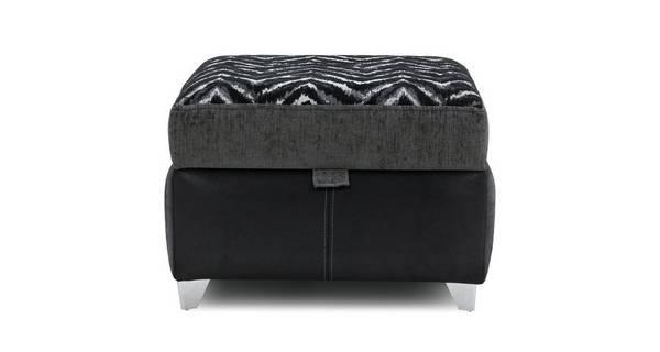 Alvia Pattern Top Storage Footstool