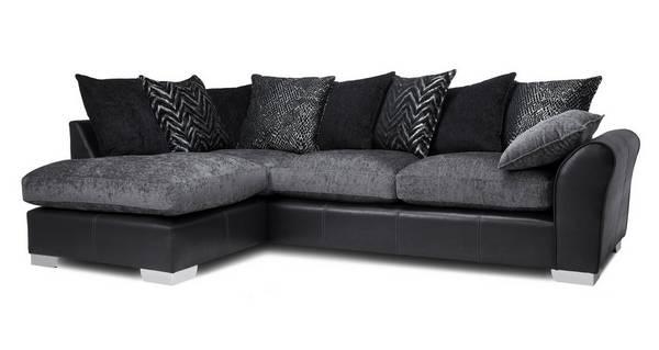 Alvia Pillow Back Right Hand Facing Open End Corner Sofa