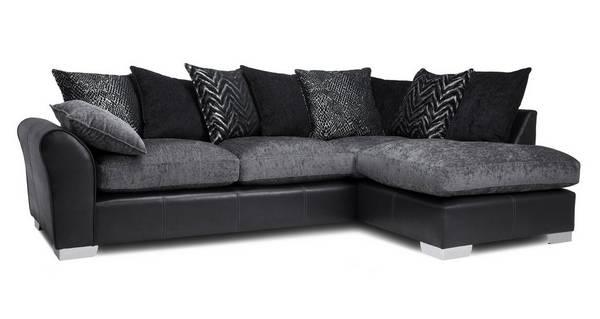 Alvia Pillow Back Left Hand Facing Open End Corner Sofa