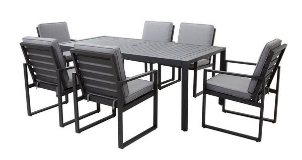 Amalfi Dining Table & 6 Chairs