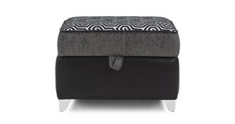 Amara Pattern Top Storage Footstool
