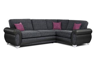 Amara Left Hand Facing 3 Seater Formal Back Corner Sofa Amara