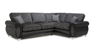 Amara Left Hand Facing 3 Seater Formal Back Corner Sofa