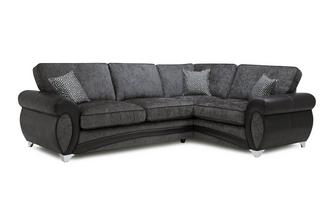 Left Hand Facing 3 Seater Formal Back Corner Sofa Amara