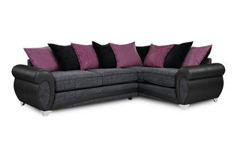 Amara Left Hand Facing 3 Seater Pillow Back Corner Sofa Amara
