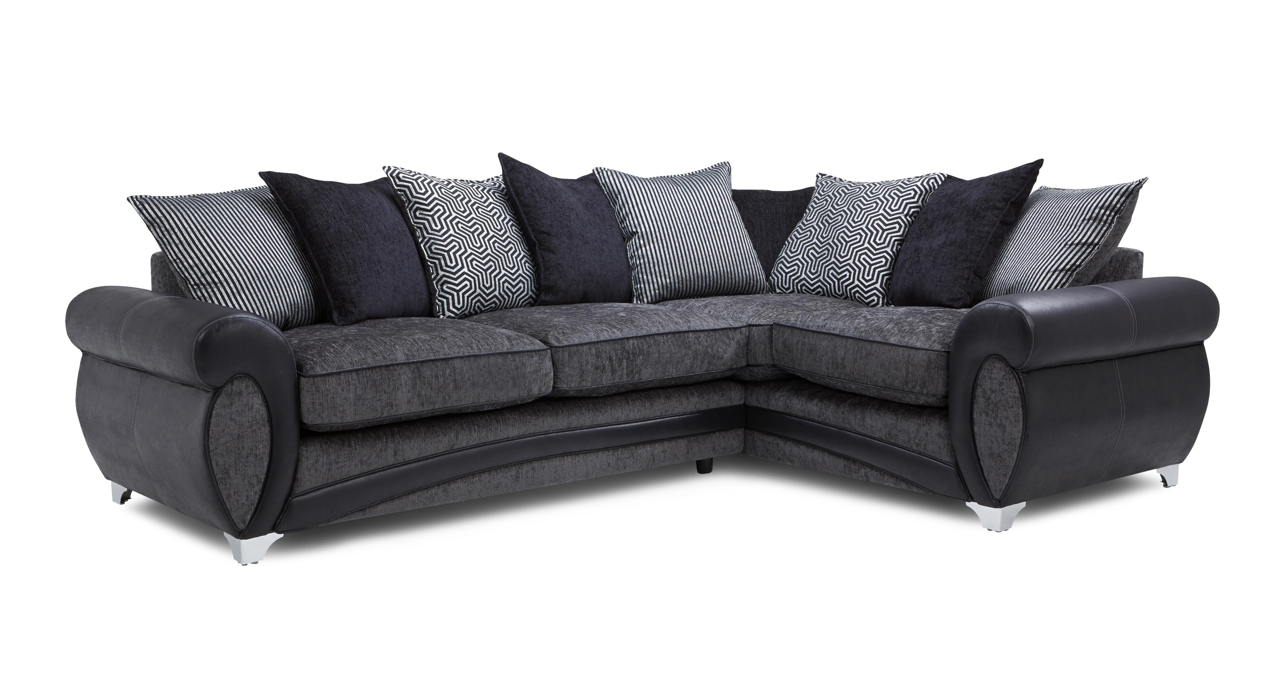 Amara Left Hand Facing 3 Seater Pillow Back Corner Sofa