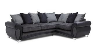 Amara Left Hand Facing 3 Seater Pillow Back Corner Sofa