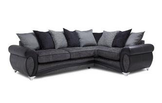Left Hand Facing 3 Seater Pillow Back Corner Sofa