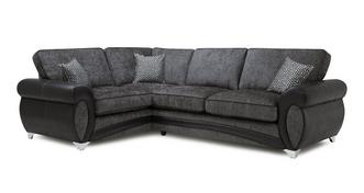 Amara Right Hand Facing 3 Seater Formal Back Corner Sofa