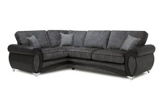 Right Hand Facing 3 Seater Formal Back Corner Sofa Amara
