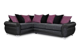 Amara Right Hand Facing 3 Seater Pillow Back Corner Sofa Amara
