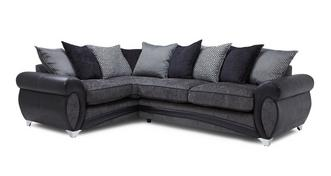 Amara Right Hand Facing 3 Seater Pillow Back Corner Sofa