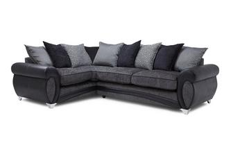 Right Hand Facing 3 Seater Pillow Back Corner Sofa Amara