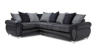 Amara Right Hand Facing Pillow Back Deluxe Corner Sofa Bed