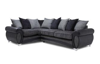 Right Hand Facing Pillow Back Deluxe Corner Sofa Bed Amara