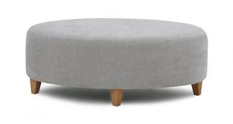 Ambit Plain Oval Footstool