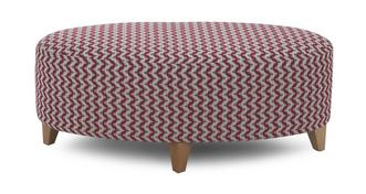 Ambit Pattern Oval Footstool