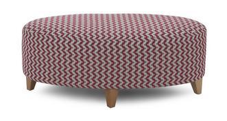 Ambit Plain Oval Footstool