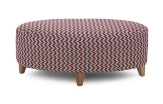 Plain Oval Footstool Ambit Pattern