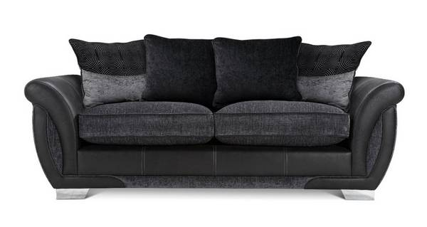 Amelle 3 Seater Pillow Back Sofa