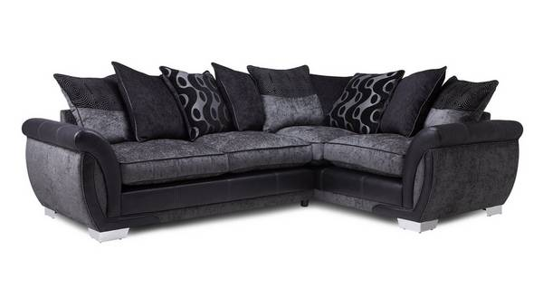 Amelle Left Hand Facing Pillow Back 3 Seater Corner Sofa