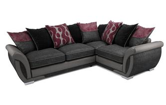 Amelle Left Hand Facing Pillow Back 3 Seater Corner Sofa Talia