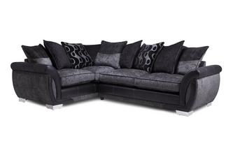 Right Hand Facing Pillow Back 3 Seater Corner Sofa Talia